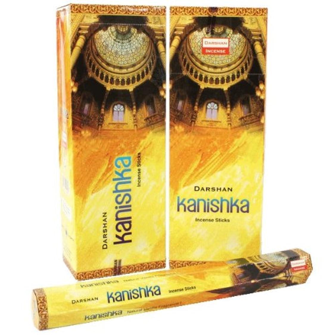 一般的に言えば許容できるオーチャードダルシャン カニシュカ香 スティック ヘキサパック(六角) 12箱セット DARSHAN KANISHKA