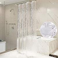 OTraki シャワーカーテン 透明 120 x 180cm 防水 防カビ 浴室カーテン 北欧 アイデアグッズ リング付属 取付簡単 クリア 3D 1.2メートル 目隠し 清潔感 ユニットバス プライバシー保護