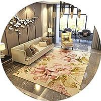 ラグ・カーペット カーペットリビングルームベッドルームベッドサイドソファコーヒーテーブルカーペット勉強室スリップシンプル田舎風 (Color : D, Size : 160cmx230cm)