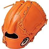 asics(アシックス) 軟式 野球用 グローブ 投手用 (右投げ用) 一般用 DIVE サイズ8 2019年モデル 3121A135 オレンジ LH(右投げ用)