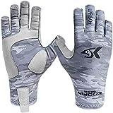 Fishing Gloves Sun Protection Fingerless Gloves UPF50+ Men Women for Outdoor Kayaking Hiking Paddling Driving Canoeing Rowing