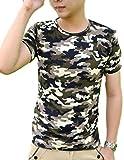 (アルバフィカ)albafica メンズ 迷彩柄 Tシャツ ミリタリー 半袖 サイズ選択可 (M)