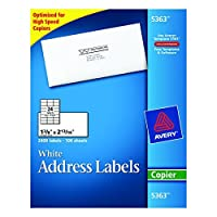 avery white copier mailing labels 5363 creative arts 並行輸入