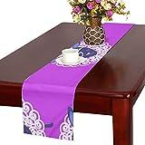 GGSXD テーブルランナー かわいい 羊 クロス 食卓カバー 麻綿製 欧米 おしゃれ 16 Inch X 72 Inch (40cm X 182cm) キッチン ダイニング ホーム デコレーション モダン リビング 洗える