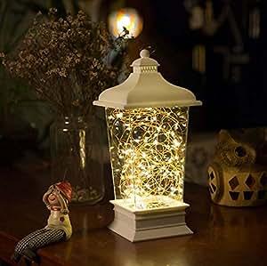 NITIUMI ベッドサイドランプ LEDライト テーブルライト イルミネーションライト 装飾ライト 室内照明 USB充電式 電池付きベッドランプ 寝起きライト 授乳ライト 雰囲気作り プレゼント (ホワイト, リモコン機能付き)