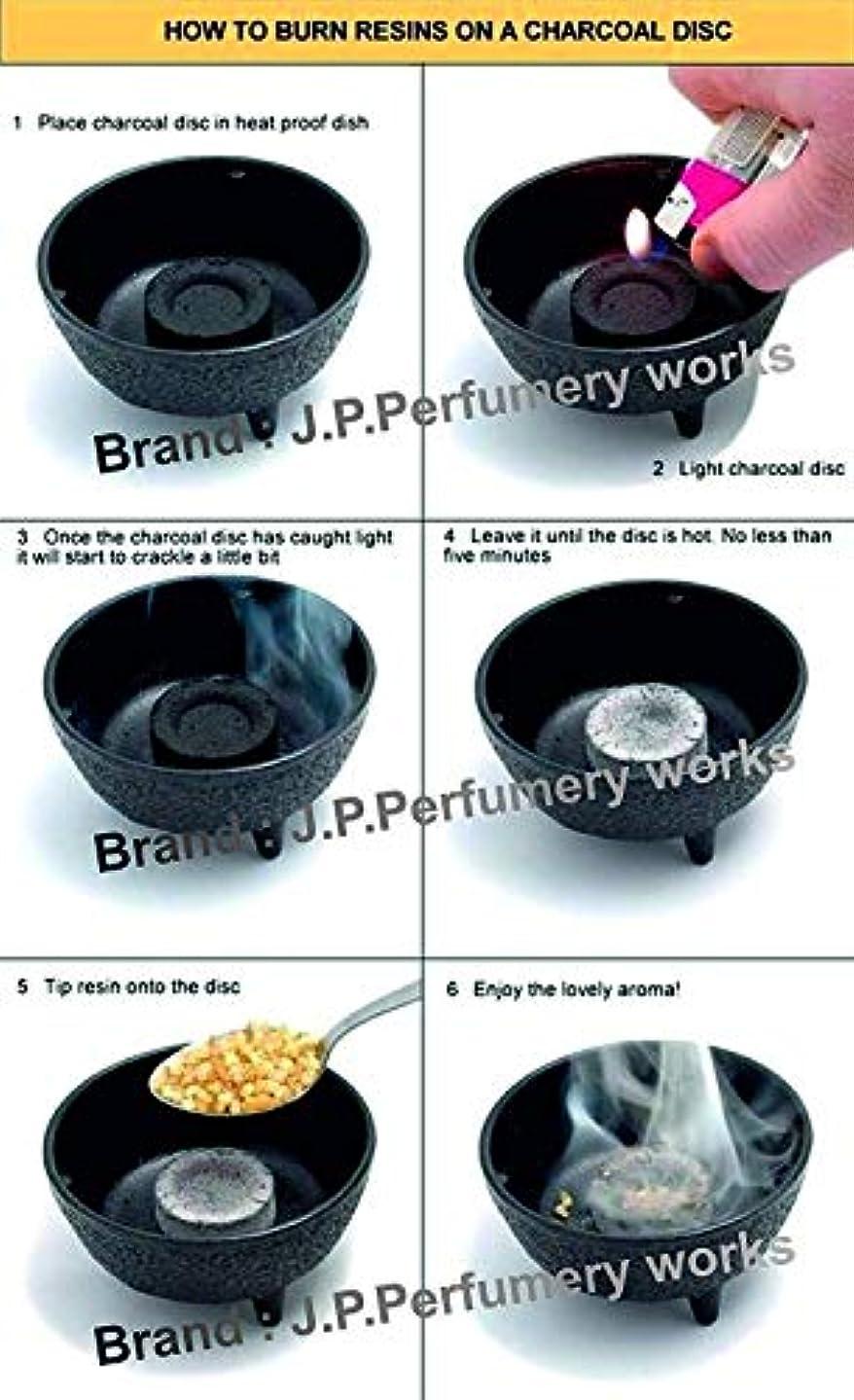 スクラップ受信機哀J.P.Perfumery works® Charcoal Tablets for Burning Dhoop, Multipurpose Use -pcs(50)