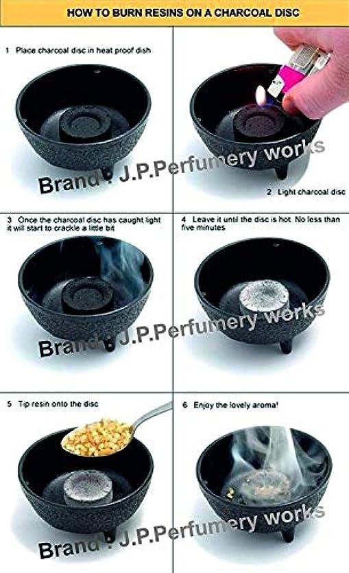 落ちた最初に箱J.P.Perfumery works® Charcoal Tablets for Burning Dhoop, Multipurpose Use -pcs(50)