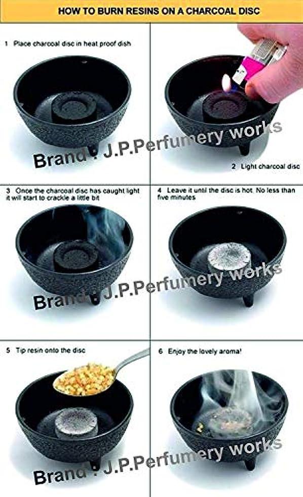 トムオードリースおもしろい日J.P.Perfumery works® Charcoal Tablets for Burning Dhoop, Multipurpose Use -pcs(50)