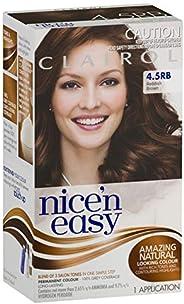 Clairol Nice'n Easy Permanant Hair Colour, 4.5rb Reddish Brown, 1 c