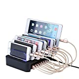 Shokk 8台同時 8ポートUSB充電ステーション 多功能 デスクトップ充電スタンド iPhones / iPads / Nexus / Galaxy /タブレットPC スマートフォンなど充電対応