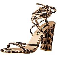 BILLINI Women's Orelia Strappy Block Heel, Light Leopard, 9 AU