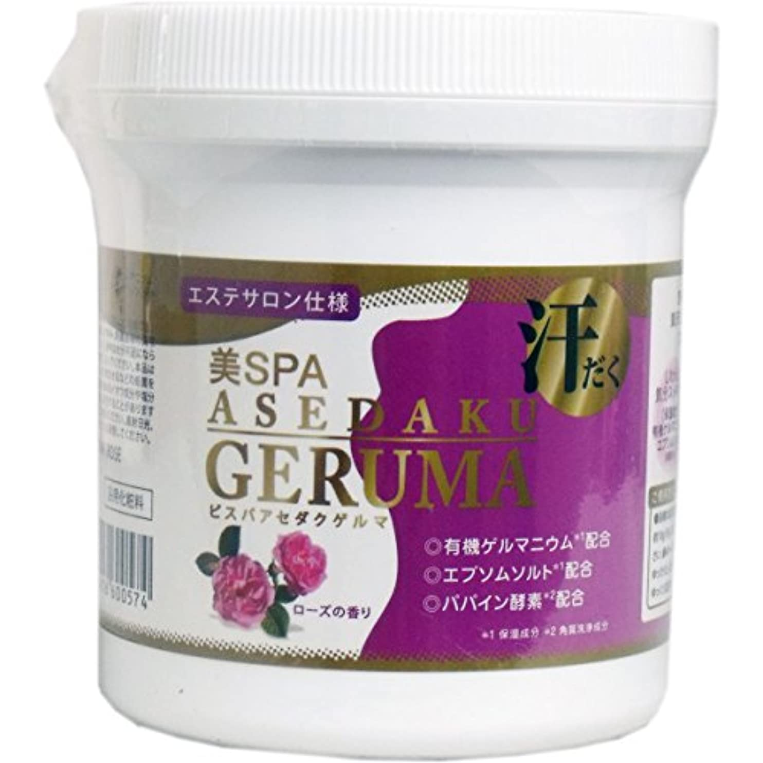 シガレット早く解決日本生化学 ゲルマニウム入浴料 美SPA ASEDAKU GERUMA ROSE(ローズ) ボトル 400g