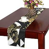 LKCDNG テーブルランナー 和風のコイ クロス 食卓カバー 麻綿製 欧米 おしゃれ 16 Inch X 72 Inch (40cm X 182cm) キッチン ダイニング ホーム デコレーション モダン リビング 洗える
