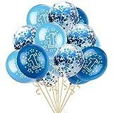 Eldori 15点セット 12  バルーン 結婚式 バレンタイン 飾り 誕生日 パーティー 飾り付け 吹雪入れ風船 セット おしゃれ ピンクゴールド フォトプロップス プロポーズ 記念日 お祝い 告白 バレンタイン応援 サプライズ 装飾 安い 飾りセット 吹雪入れ風船 Foil Latex Confetti Balloon Baby One Year Old Happy Birthday Party (D)