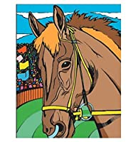 "Colorvelvet 37 x 28 cm ""Horse"" Drawing Colouring System (Medium, Multi-Colour)"