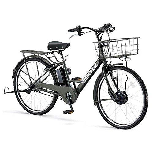 BRIDGESTONE(ブリヂストン) STEP CRUZ e 電動アシスト自転車 8.1Ah デュアルドライブ搭載 アルミフレーム 2017年モデル SC6B37 T.Xマットカーキ