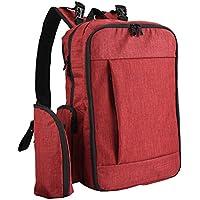 Cizen赤ちゃんナッピーバックパック、多機能ナッピー変化バックパック ミイラのためにパパ大容量旅行バックパック防水付きスタイリッシュ耐久性のある(赤)