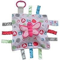 ABCピンクバタフライ123 Sensory教育Lovey Baby Jack Blanket