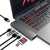 Satechi マルチ USB ハブ Type-C Macbook Pro 13/15インチ用 40Gbs Thunderbolt 3 4K HDMI パススルー充電 Micro/SDカード USB 3.0ポート×2 アルミニウム Proハブ (スペースグレイ)