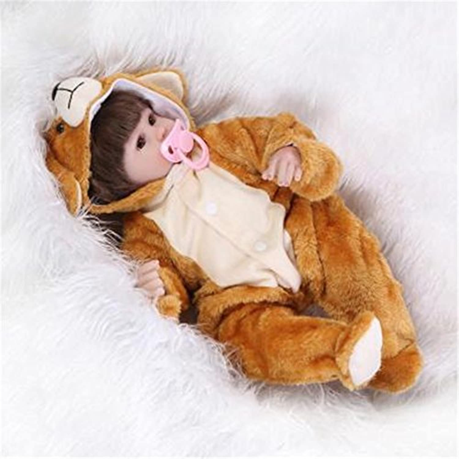 SanyDoll Reborn Baby Doll Soft Silicone 18inch 45cm Magnetic Lovely Lifelike Cute Lovely Holiday gifts children's