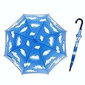 子供 傘 キッズ ジャンプ傘 青空 55cm 【LIEBEN-0380】 (全面青空)