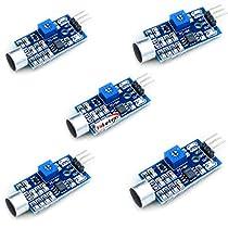 HiLetgo® 5個セット サウンドセンサーモジュール声検出声コントロールスイッチ [並行輸入品]