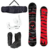 【ボードケースプレゼント】GROOVE メンズ スノーボード 3点セット CYCHROME(Red) Size:151 White,Black27.5cm