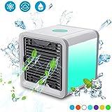 エアコン,ミニ エアー クーラー,ポータブル デスクトップ オフィス ホーム 冷却 Usb エアコン 加湿