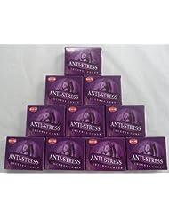 HEM Incense Cones: Anti Stress - 10 Packs of 10 = 100 Cones by Hem