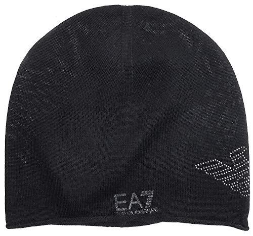 エンポリオアルマーニEMPORIO ARMANI メンズ ニット帽 ラメ スタッズ ビーニー 285547-8A731-39220_L 並行輸入品