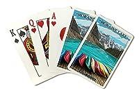 Banff , Alberta , Canada–Moraine Lake and Canoes ( Playingカードデッキ–52カードPokerサイズwithジョーカー)