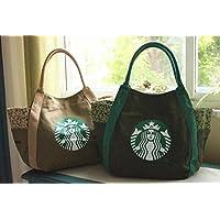 海外スターバックス マザーバッグ トートバッグ エコバッグ かばん 鞄 スマホポーチ 財布 ボトルホルダー 韓国 台湾 カーキ ベージュ
