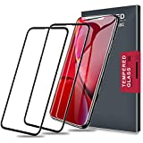 Meidom iPhone XR Screen Protector,Tempered Glass 3D Full Coverage and Soft Edge Carbon Fiber Glass Screen Protector for iPhone XR-Black,2-Pack
