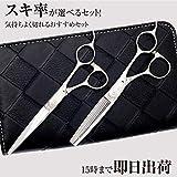 DEEDS 日本の鋏専門メーカー JP-02 シザー セニング 2本セット 20%前後 鍛造仕上 プロ仕様セニング鋏の2本セット 美容師
