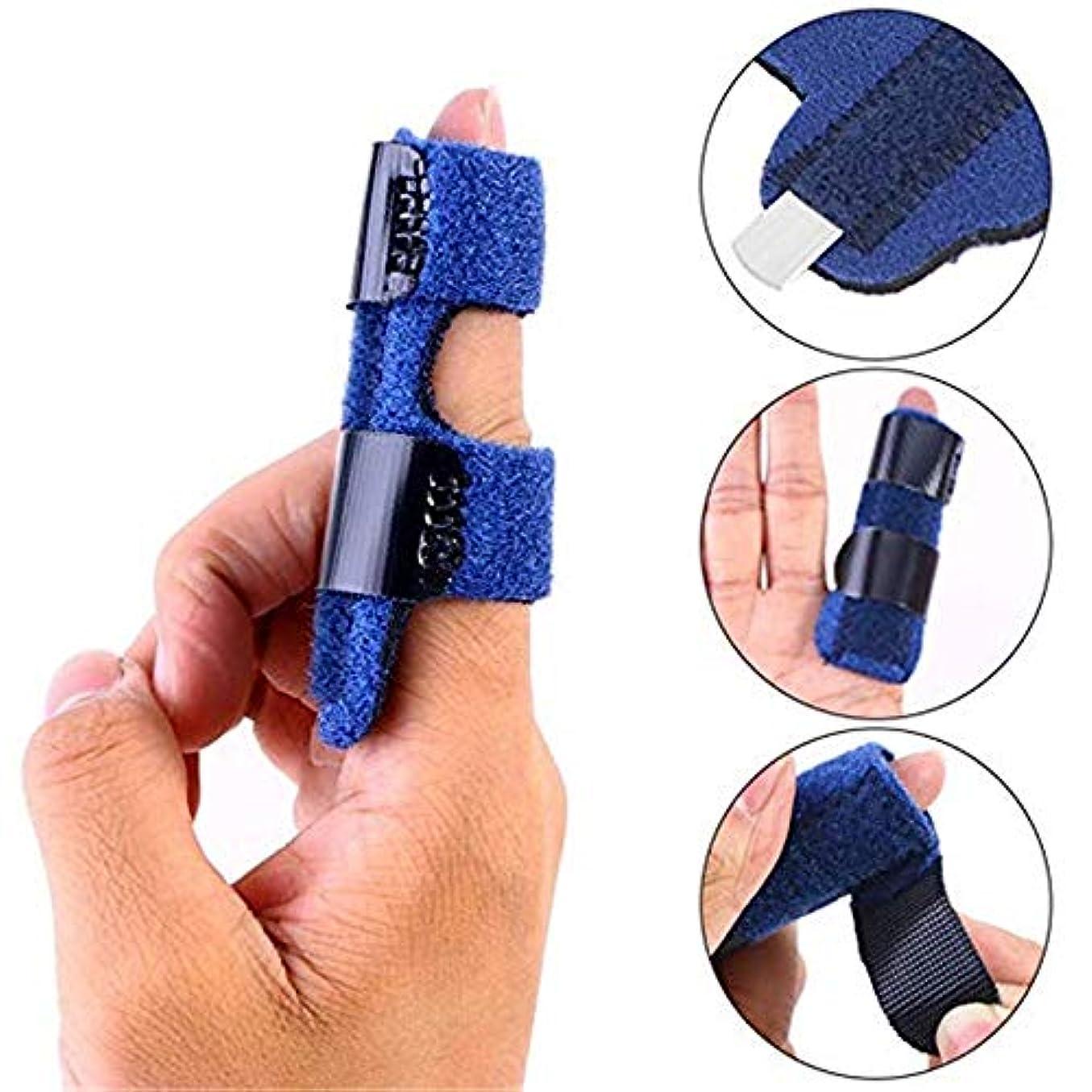 ネコ優しいソースアルミニウム製サポートロッドが付いている指の添え木、レンチ/割れ/鍬(finger index index middle ring)指掛け用ブラケット、1