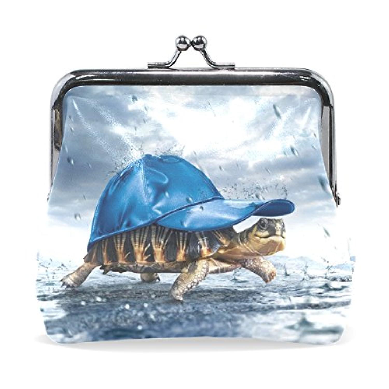GORIRA(ゴリラ) 可愛い ハット亀 超繊レザー&木綿 人気財布 ブランド がま口式小銭入れ ミニがま口