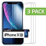 Cellet 強化ガラススクリーンプロテクター Apple iPhone Xr対応 硬度9H 99.9% 透明 透明 3パック