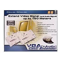 Kenable Rextron VGA/SVGA Cat5/LAN電源エクステンダー/スプリッター オーディオ付き