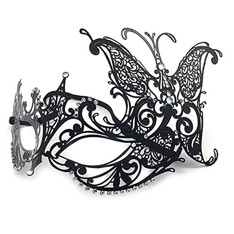 杭羊飼い美的ハロウィンマスク仮装ハーフフェイスマスクレディバタフライメタルダイヤモンドパーティーアイマスク