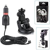 VVHOOY 2 in 1車載充電器カメラ吸盤カップマウントAKASO DBPOWER APEMAN WiMiUS SJCAM適用