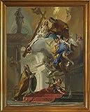 古典フレーム Giovanni Battista Tiepolo ジクレープリント キャンバス 印刷 複製画 絵画 ポスター(三位一体のビジョン)