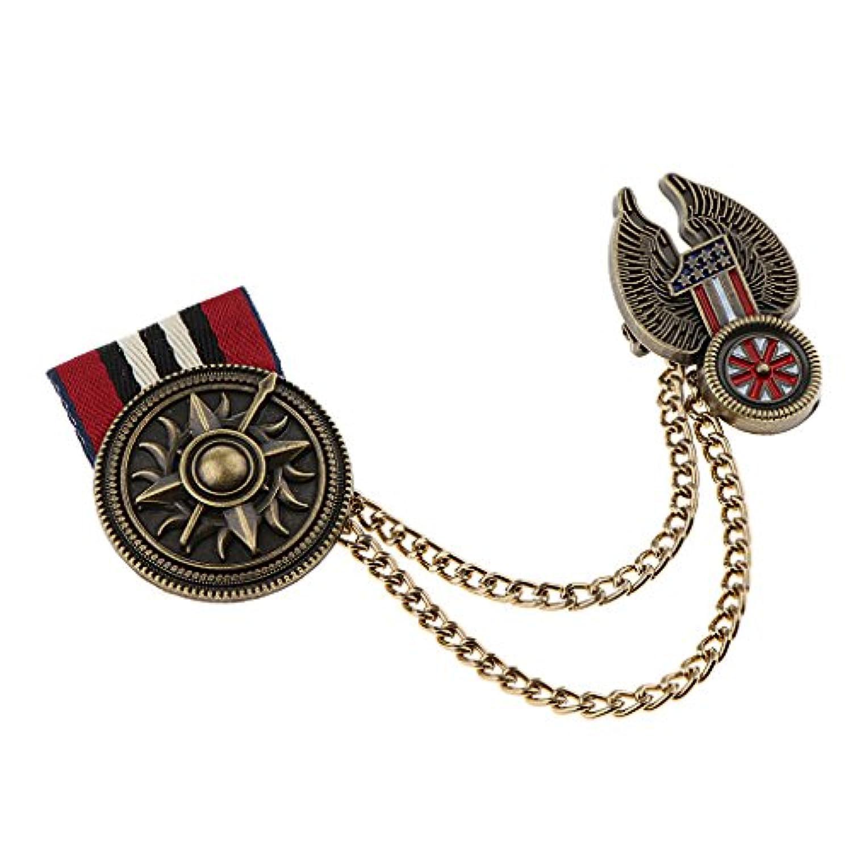 Baoblaze レトロ 女性 男性 軍服 メダル 布 ラベルピン バッジ ブローチピン ジュエリー ギフト