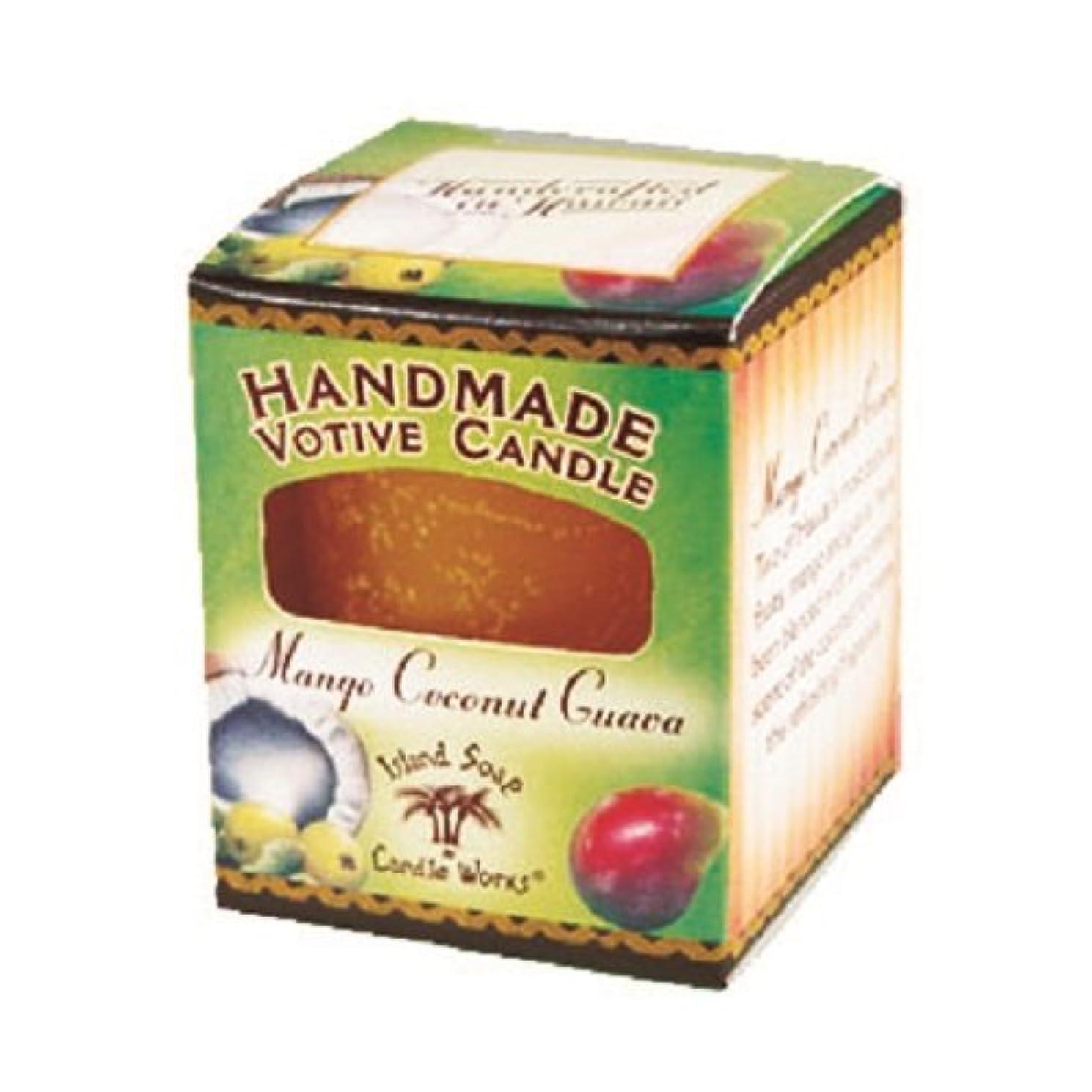 手入れビルダーちょっと待ってアイランドソープ ボーティブキャンドル マンゴココナッツ