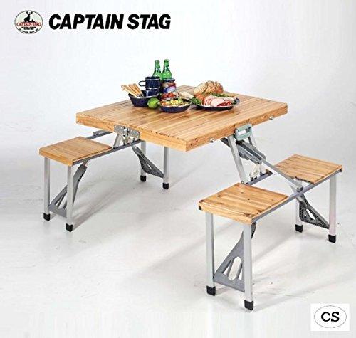 キャプテンスタッグ NEWシダー 杉製ピクニックテーブル