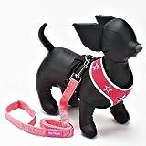 ヒップドギー (Hip Doggie) ハーネスベスト ウルトラメッシュ Pink Mesh Star サイズ XL