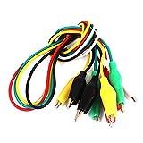 uxcell ワニ口クリップテストリード ジャンパーワイヤー 電線クランプ ワイヤーコード 5個入り