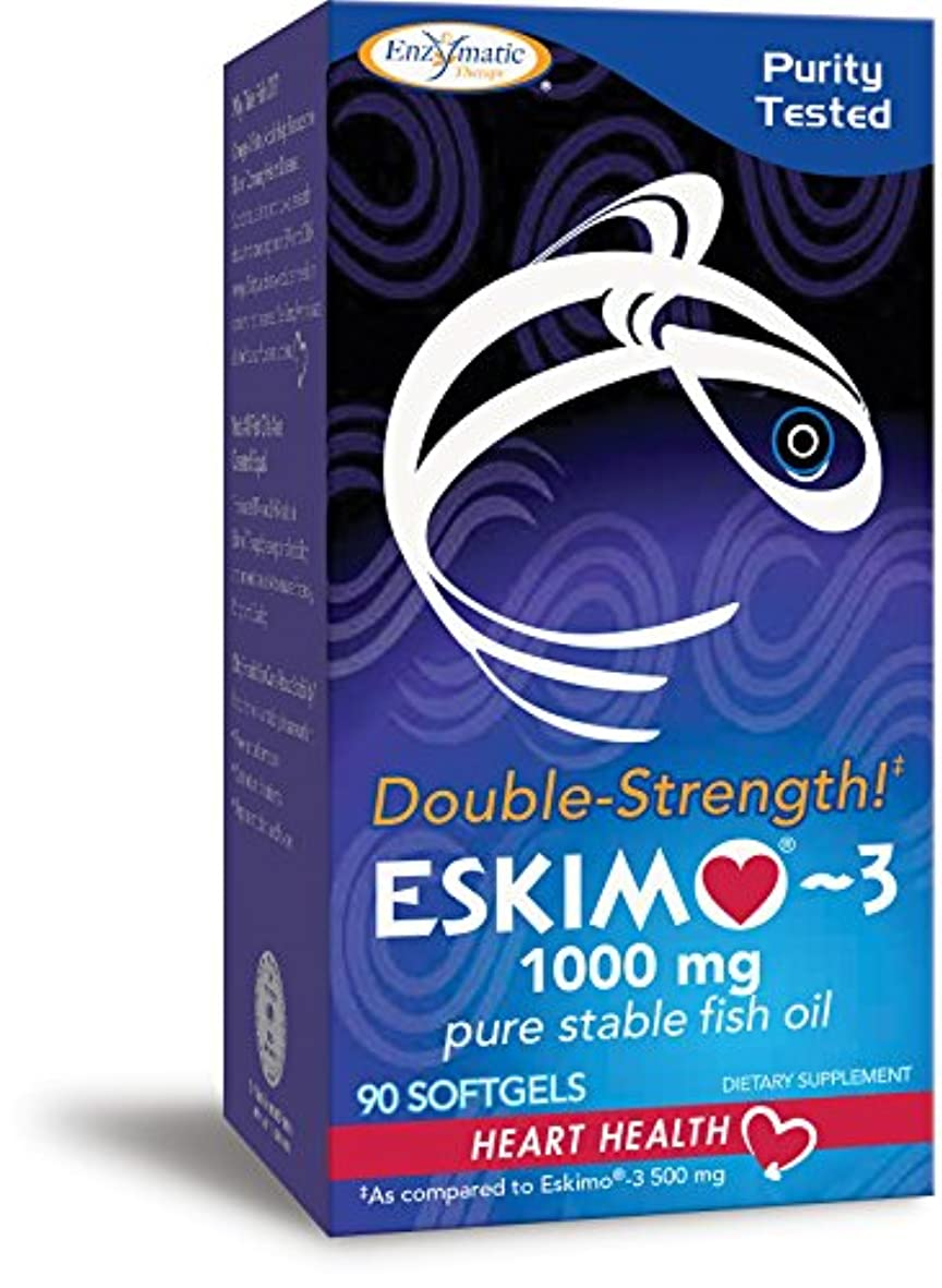 ペンフレンドエイリアン裕福な海外直送品 Enzymatic Therapy Eskimo-3 Double-Strength, Double Strength 90 softgels 1000 Mg