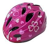 自転車 ヘルメット キッズ スタンダードモデル Sサイズ 48~52cm ハートピンク 46401