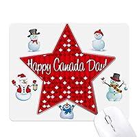 カナダ風味の幸せなカナダの日 クリスマス・雪人家族ゴムのマウスパッド