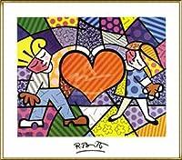 ポスター ロメロ ブリット Heart Kids 額装品 アルミ製ハイグレードフレーム(ゴールド)